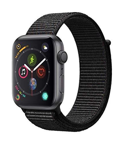 AppleWatch Series4 (GPS) con caja de 44mm de aluminio en gris espacial y correa Loop deportiva negra