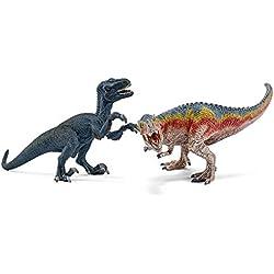 Schleich - Set 2 figuras dinosaurios. T-Rex y Velocirráptor