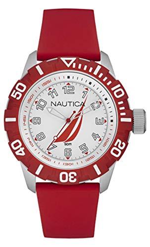 Nautica Orologio Analogico Quarzo Unisex Adulto con Cinturino in Silicone NAI08506G