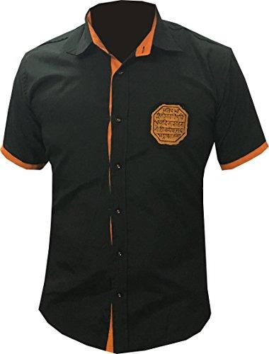 Millennium Men'S Poly Cotton Casual Shirt (1968094031_Black_44)
