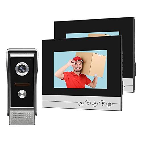 HFeng Sistema videocitofonico 2 monitor Videocitofono 7 pollici Clear Display per campanello per la...