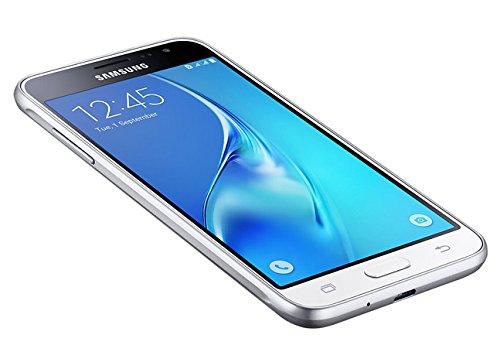 Samsung Galaxy J3, Smartphone libre (5'', 1.5GB RAM, 8GB, 8MP) [Versión española: incluye Samsung Pay, actualizaciones de software y de Bixby, compatibilidad de redes], color Blanco