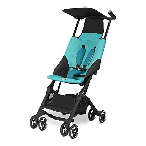 GB Pockit Gold Colección 2016 - Silla de paseo ultracompacto para niños de 0-17 kg, desde los 6 meses hasta los 4 años aprox., Azul (Capri Blue)