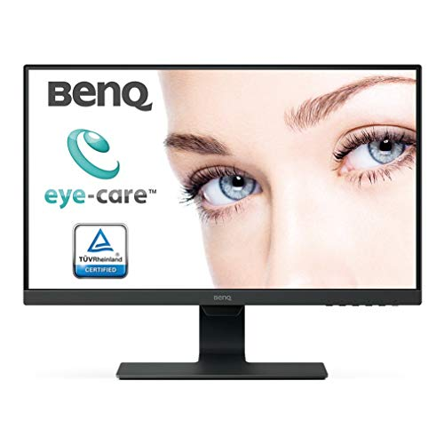 BenQ GW2480 24-inch (60.5 cm) Eye Care Monitor, IPS Panel with VGA, HDMI, Audio in, Headphone Ports and in-Built Speakers, with Adaptive Brightness Technology - M353231 (Black)