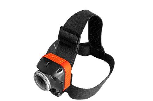 SportXtreme Fascia per Testa per tutte le Action Cam, Fotocamere, Videocamere con Filettatura, Vite Fotografica da 1/4 Pollice e per videocamere Serie GoGoal, JVC ADIXXION, Liquid Image EGO, Nero