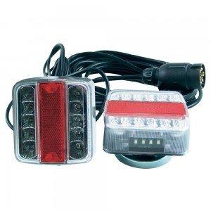 Ledwork - Kit per illuminazione a LED, con fissaggio magnetico, per rimorchio