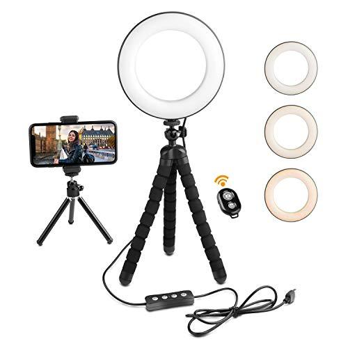 Deyard Anello di Luci a LED con Treppiedi per iPhone GoPro Xiaomi Yi Action Camera Il Meglio per...