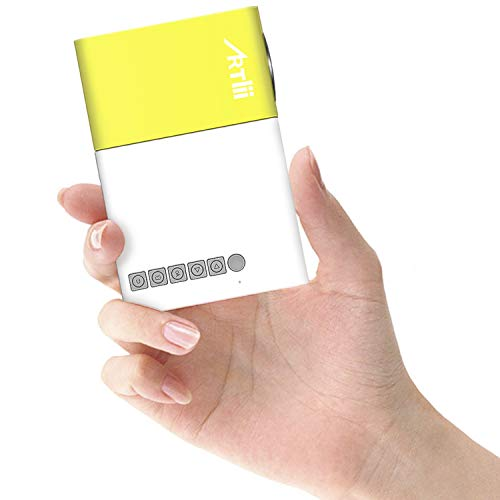 Mini Proiettore,Artlii LED Proiettore Portatile, con AV/VGA/USB/HDMI,Compatibile con laptop,...