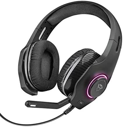 Trust GXT 455 Torus RGB Gaming Headset (für PC und Laptop, mit RGB LED Beleuchtung) schwarz