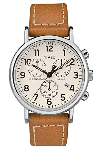 Timex Herren Chronograph Quarz Uhr mit Leder Armband TW2R42700