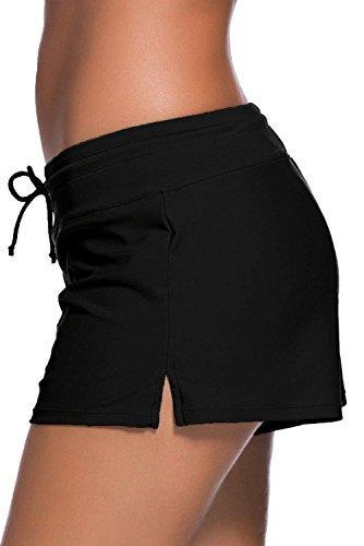Boldgal Women's Bathing Costume Swim Shorts (Black) 5