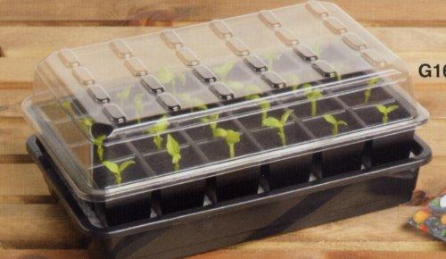 Garland 24 Cell Self-Watering Propagator, Black, 38x17x26 cm