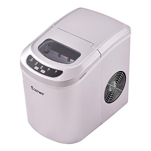 Machine à Glaçons Automatique avec Réservoir 2,2 Litres 9 Glaçons Par 6-13 Min Produire 12kg De Glace Par Jour Tension 230/50Hz en Argent