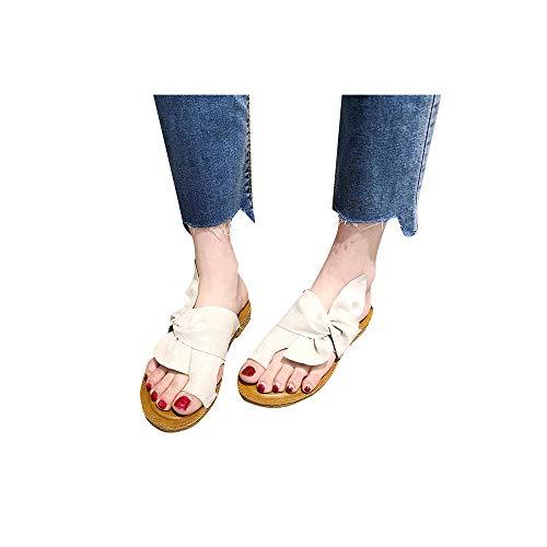 Celucke Scarpe da Donna Sandali Infra-Alluce Bassi in Pelle Infradito Sandal comode Viaggio per...