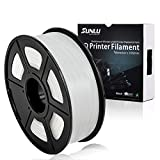 SUNLU 3D Printer Filament PLA+ White(more like transparent), 1.75 mm, Low Odor Dimensional Accuracy +/- 0.02 mm, 2.2 LBS (1KG) Spool, White(more like transparent)