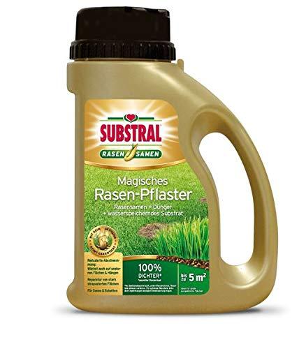 SUBSTRAL Magisches Rasen-Pflaster 1 kg - 3 in 1 Reparatur-Kombination - anwendungsfertige Mischung aus Rasensamen