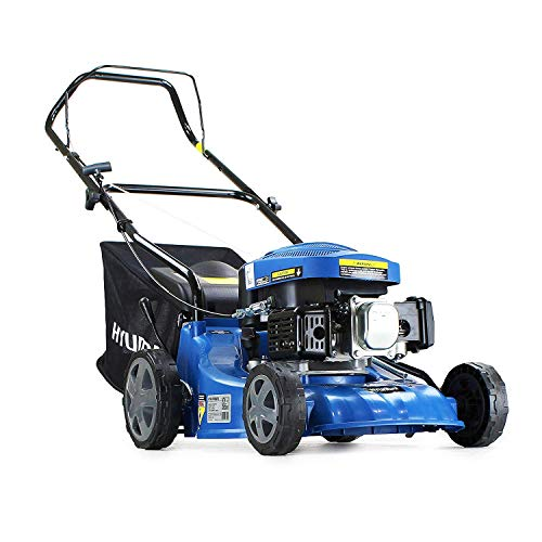 Its basically a no frills lawn mower, that is designed to be affordable while still offering great quality and performance. It does a great job a cutting the grass and the engine starts first time, one feature we were impressed with is that the pull cord can be placed at the top of the handle, this means you don't need to bend down to the engine to pull the cord, this was a great idea and seems to make life a little easier when starting the mower for most people.