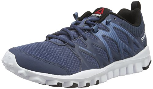Reebok Men's Realflex Train 4.0 Royal, Slate, White and Black Multisport Training Shoes - 9 UK/India (43 EU)(10 US)