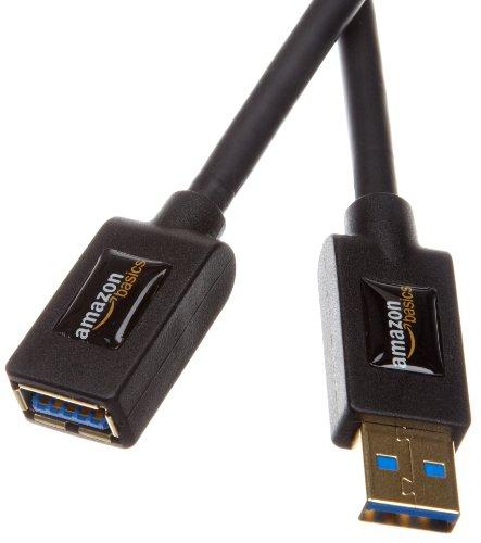 AmazonBasics USB 3.0-Verlängerungskabel (A-Stecker auf A-Buchse) 3 m (Abwärtskompatibilität zu USB 2.0 und 1.1 )