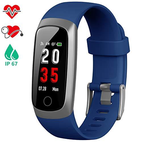 iPosible Fitness Tracker, Orologio Fitness Braccialetto Pressione Sanguigna Cardiofrequenzimetro da...
