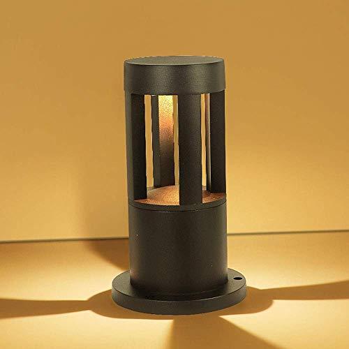ZLHLL Luce di tessitura del LED Luci di zoccolo nero Colonna Fari Lampada di polline cilindrico in...