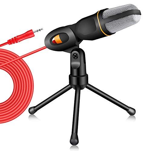 tonor 3,5mm Klinkenstecker Kondensator Sound Mikrofon für Computer schwarz