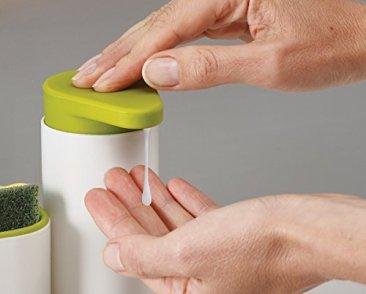 New Arrival Plastic 2 In 1 Multipurpose Sink Tidy Set Liquid Soap Dispenser, Standard, Multicolour 3