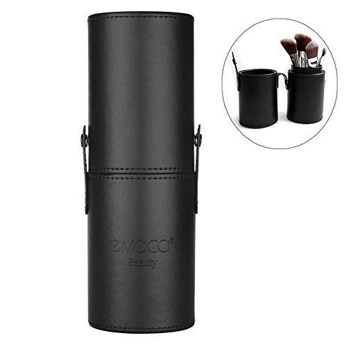 Porta Pennelli Make Up Pinsel Halter PU Leder Kosmetik Organizer Travel Make-up Cup Tasche Schwarz