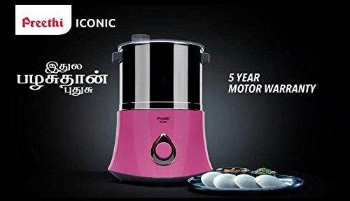Preethi Iconic 2-Litre Wet Grinder (Pink)