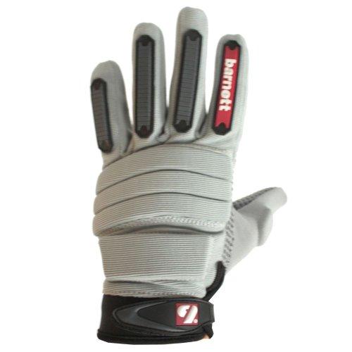 barnett FLG-02 paio di guanti da football americano lineman fit, taglia xl, grigio