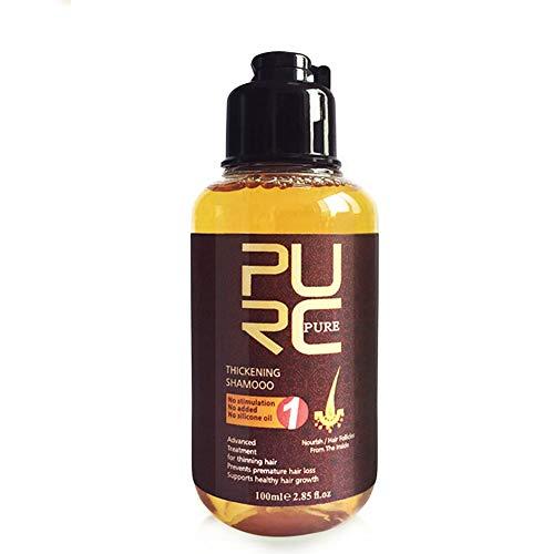 Ofanyia 100ML Natürliches Kräuter-Haarwuchs-Shampoo Feuchtigkeitsspendendes Anti-Haarausfall-Shampoo zur Behandlung von Haarwuchs