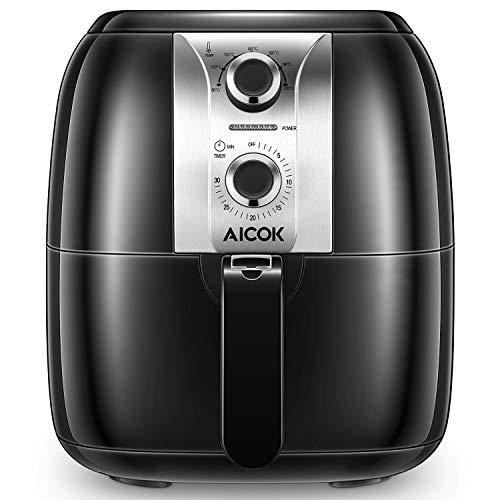 Aicok Friggitrice Ad Aria Calda, 3.5L Low-oil Multifunzione Antiaderente Friggitrice, Temperatura e...