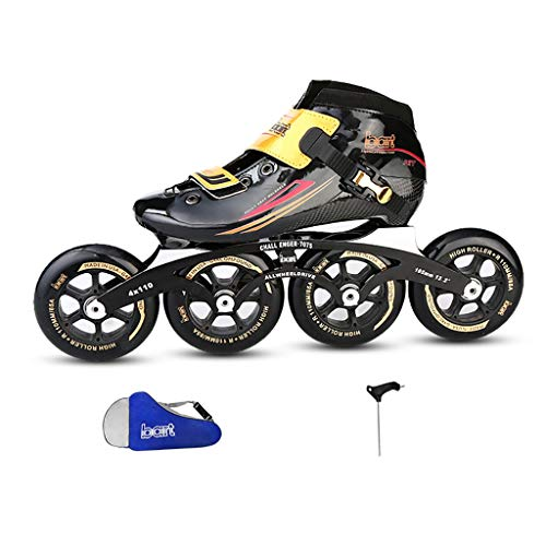 YUBIN Pattini in Linea Professionali in Fibra di Carbonio, Rollerblades for Adulti Bambini, 30-45...