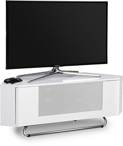 Centurion Supports, Hampshire, mobile ad angolo per TV da 26-50' con finitura bianco lucido, griglia...