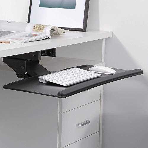 RICOO Tastaturauszug CZ0200 Tastaturhalter Ergonomisch Schwenkbar Neigbar   Tastaturhalterung Halterung unter Schreibtisch Keyboard Unter Tisch Untertisch Halter   Schwarz