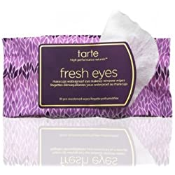 Tarte Fresh Eyes Maracuja Waterproof Eye Makeup Remover Wipes by Tarte