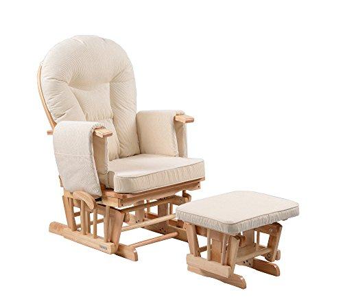 Sereno Nursing Aliante maternità sedia a dondolo con blocco scorrevole e poggiapiedi ... (Naturale)