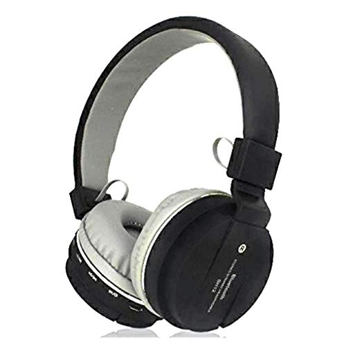 Sami® Sh12 Wireless Bluetooth Headphone with FM and SD Card Slot & Compatible OnePlus 7Pro (Assorted Black)