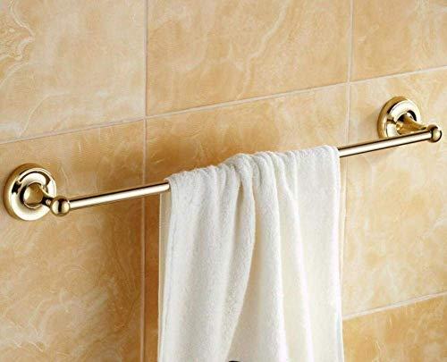 AGWa European Style Alle Trockentücher Badezimmer Bronzeplatten-Unipolare Bad Gold Bar Ausrüstung von Handtuch, Gold, 60 cm