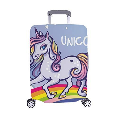 Carino Unicorno Stelle Arcobaleno Biglietto d'auguri Modello Trolley Custodia da viaggio Protezione...