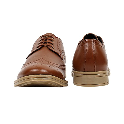 c09053a302 SeeandWear Tan Colour Brogue Shoes for Men. Genuine Leather Formal ...