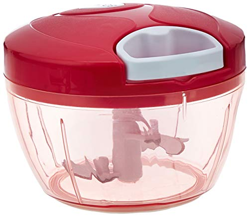 Amazon Brand - Solimo Compact Vegetable Chopper (350ml, Magenta)