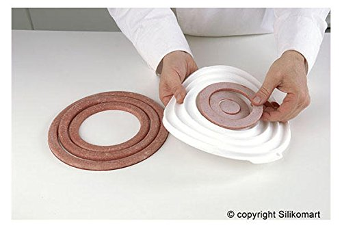 Silikomart-Professional--Backform-Einsatz-fr-Dekoration-Silikon-rund-doppelseitig-Fr-die-Kche-rund-ums-Backen-Silikonbackformen
