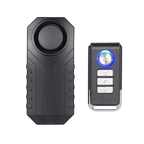 Mengshen Bicycle Alarm - Anti-Theft for Bike Motorcycle Car Vehicles with Remote Control, 113 db Super Strong