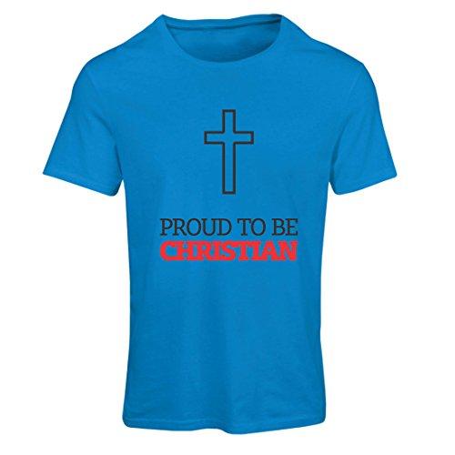 lepni.me Maglietta Donna Orgoglioso di Essere Cristiano! Dio AMA ognuno di Noi - Unici Doni...