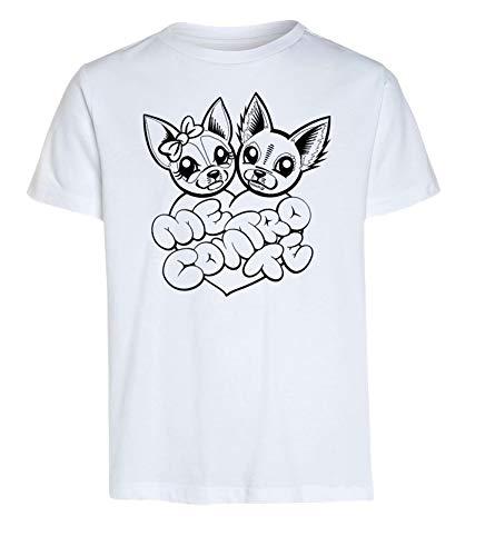 Idea Regalo per Bambini - Maglietta t-Shirt da colorare con Colori Inchiostro per Tessuti - Originale educativa (3-4 Anni, Maglia Kira e Rai + Colori)
