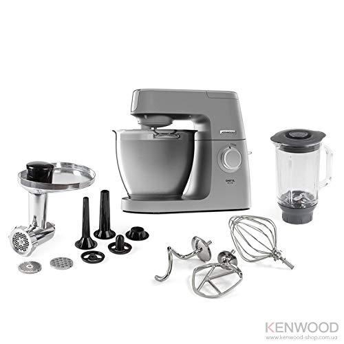 Kenwood KVL6370 Chef Elite Impastatrice Planetaria, 1400 W, 6.7 Litri, Acciaio, Plastica, Silver