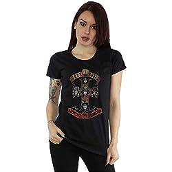 Guns N Roses mujer Appetite for Destuction Distressed Camiseta Medium Negro