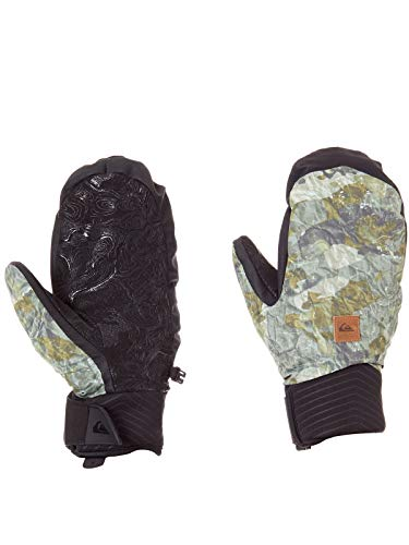 Quiksilver Guanti A Manopola Snowboard Method Grape Leaf-Tanenbaum (S, Verde)