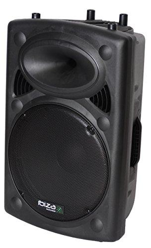 Ibiza SLK15A-USB - Altavoz de suelo de 800 W, negro